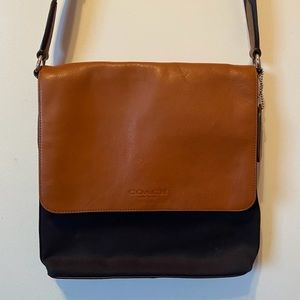 Coach Messenger Crossbody Bag, Leather and Canvas